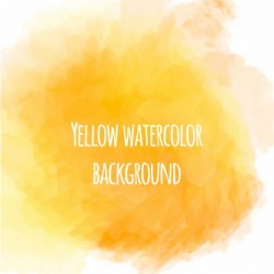 Nice yellow watercolor background Vector | Free Download