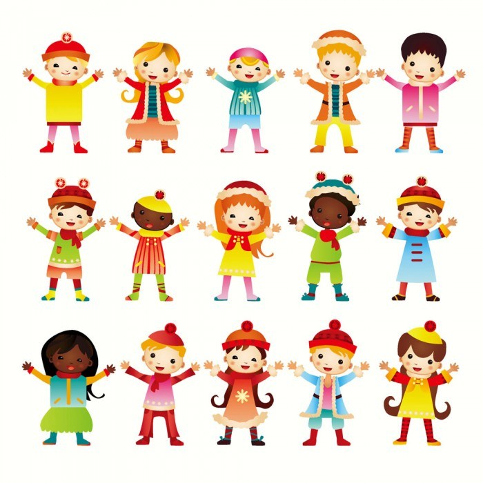 Open hands Happy children vector