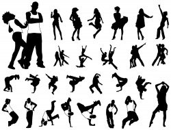 Various dance vector image vector