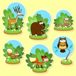 Wild animals collection Vector | Free Download