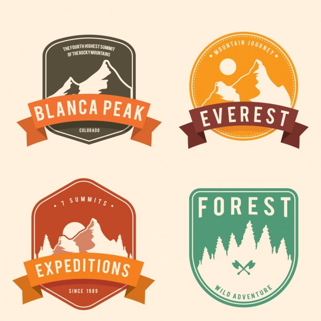 Adventure badges collection Vector | Free Download