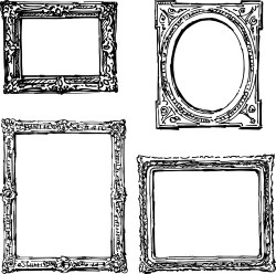 Classical photo frame vector material 02