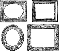 Classical photo frame vector material 03
