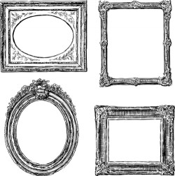 Classical photo frame vector material 04