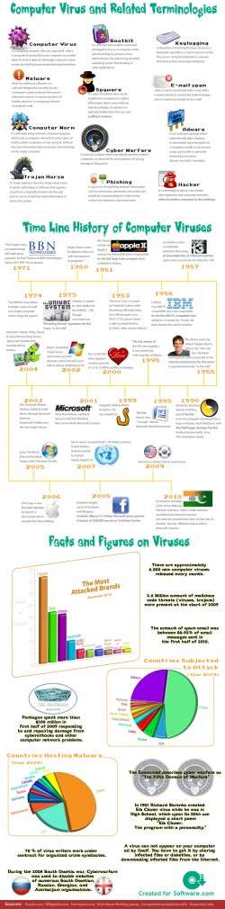 Computer Virus and Related Terminologies [Infographic]