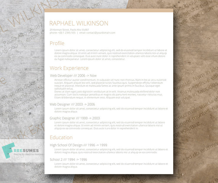 Crafty and Casual – A Smart Resume Template for Free