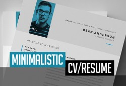 Free Minimalistic CV/Resume Templates with Cover Letter Template | Design | Graphic Design Junction