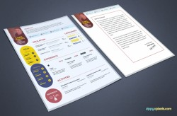 Free PSD Resume & Cover Letter Template| ZippyPixels