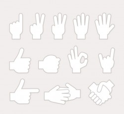 Gesture white design vector