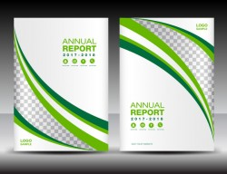 Green and white Cover template vector