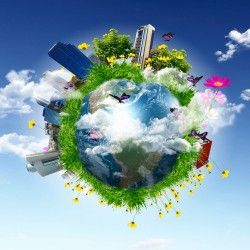 Green Earth Ecological Model picture material