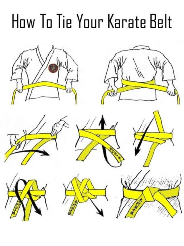 How To Tie Your Karate Belt