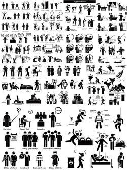 Life silhouette figures vector