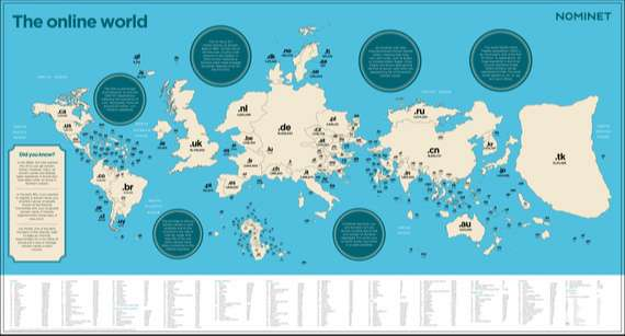 Mapping The Online World | Huffington Post