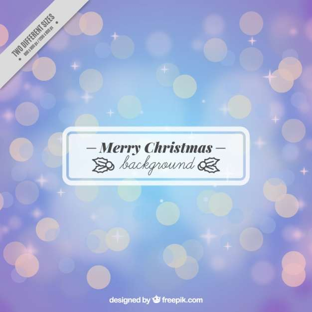 Merry christmas bokeh background Vector | Free Download