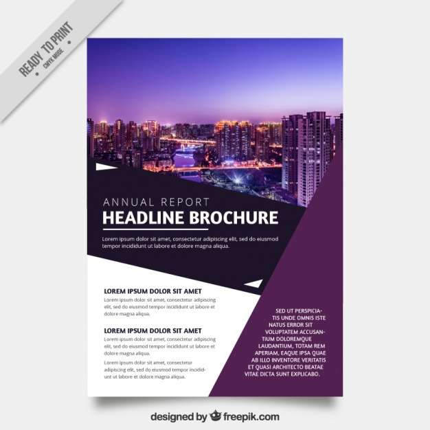 Modern business poster with geometric shapes