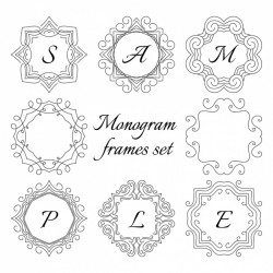 Monogram frame set