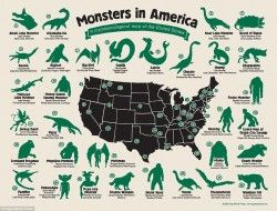 Monsters in America: A cryptozoological zoological map of the United States – Imgur