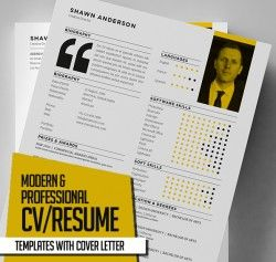 New Modern CV / Resume Templates with Cover Letter | Design | Graphic Design Junction