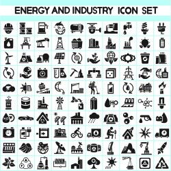 Oil and energy icon vector