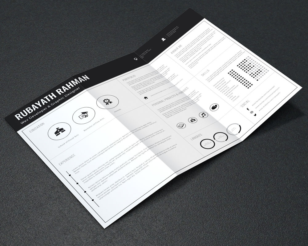 Professional Resume / CV Template – Welcome to Tech & ALL