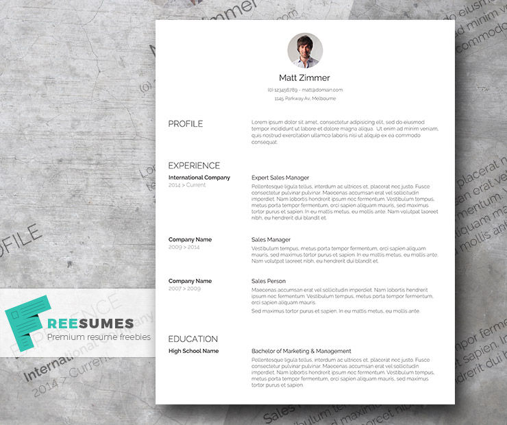 spick and span a clean resume template freebie - Clean Resume Template