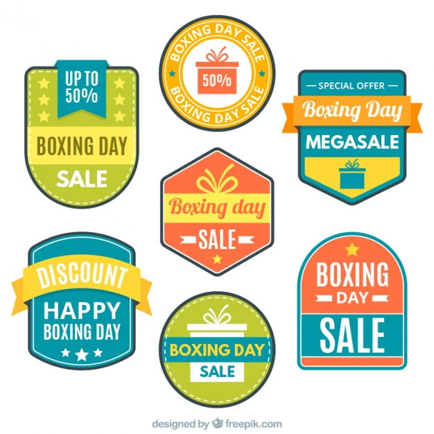 stickers of boxing day special sales collection