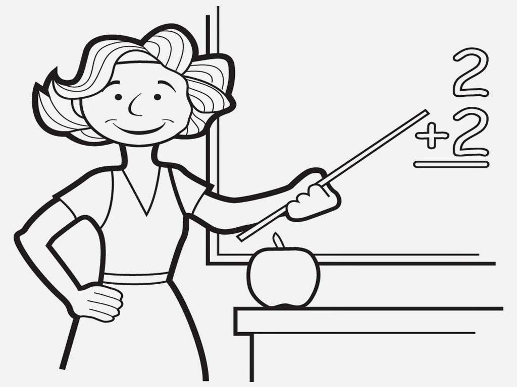 teacher coloring pages | realistic coloring pages | epin ? free ... - Teacher Coloring Pages