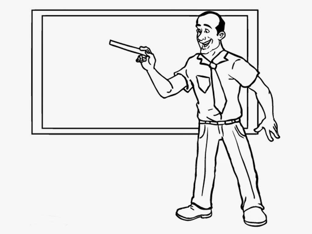 teacher coloring pages realistic coloring pages - Teacher Coloring Pages
