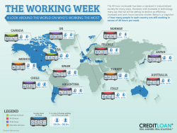 The State of the 40-Hour Workweek [Infographic]