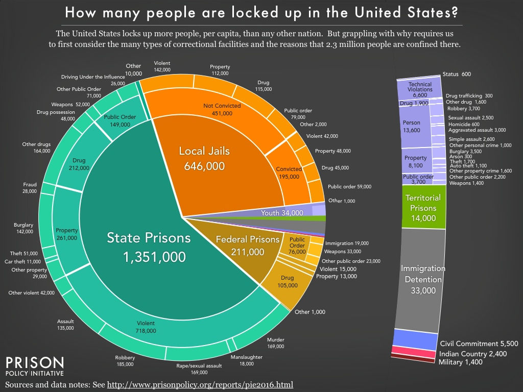 This Eye-Opening Prison Population Pie Chart Will Blow Your Mind   EverythingAboutDesign.com