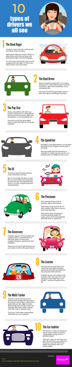 10 Types Of Drivers We All See [Infographic] – Imgur