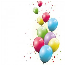 Birthday background colored confetti with balloon vector 04