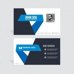 Black and blue business card