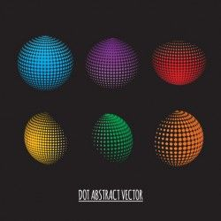 3d spheres with dots
