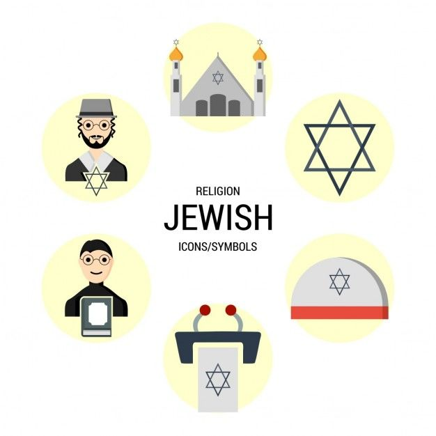 Different icons of the jewish religion