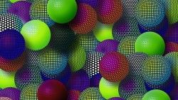 Balloons, Colorful, Mesh, Set, Variety laptop 1366×768 HD Background