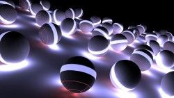 Balloons, Neon, Light, Bright, Shadow laptop 1366×768 HD Background