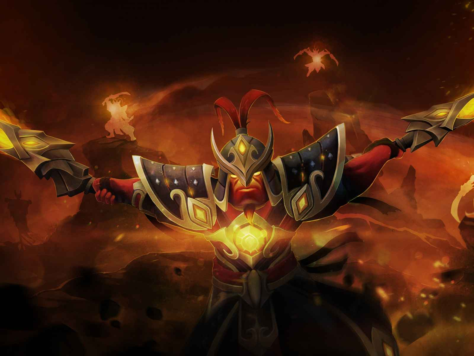 Dota 2, Xin, Ember spirit, Fire 1600×1200 HD Background