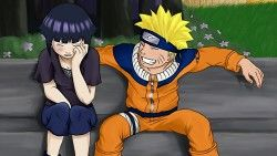 Naruto, Hinata, Girl, Man, Crying, Joy, Bench laptop 1366×768 HD Background