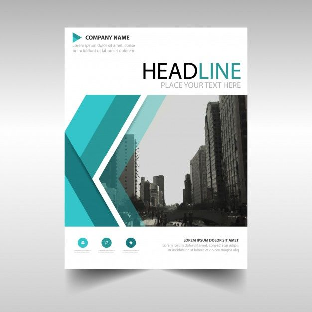 Green abstract annual report template