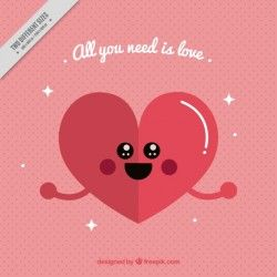 Lovely heart background with love message