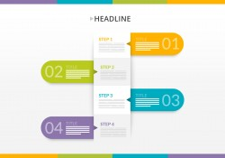 Paper Step Banners Vector Graphic