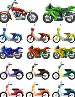 Small motorcycle design vector