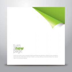 Turn a New Page Vector