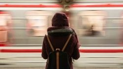 Wallpaper Traveler, Backpack, Loneliness, Train, Station, Speed HD, Picture, Image
