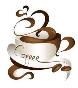 Abstract coffee with cup design vector 07
