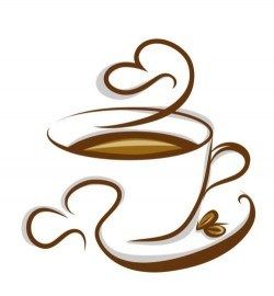 Abstract coffee with cup design vector 04