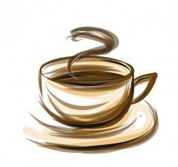 Abstract coffee with cup design vector 03
