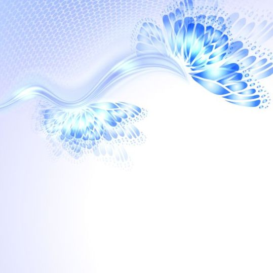 Beautiful butterfly wing with abstract background vector 11